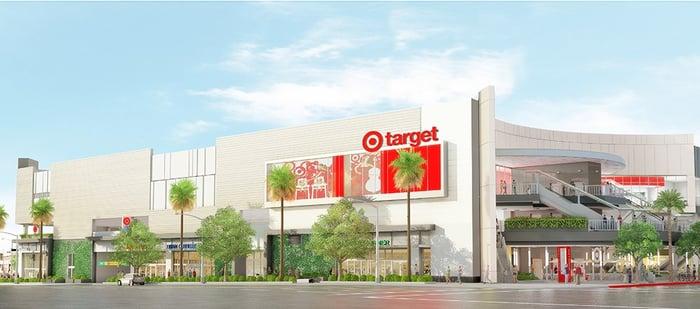 Rendering of new Target store in California.