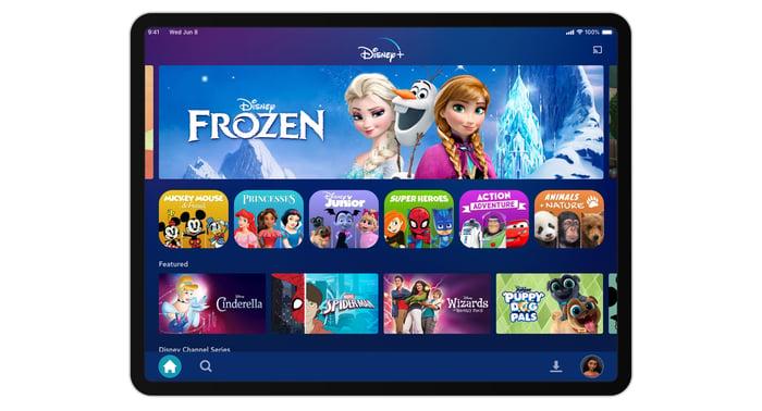 Disney+ on an iPad
