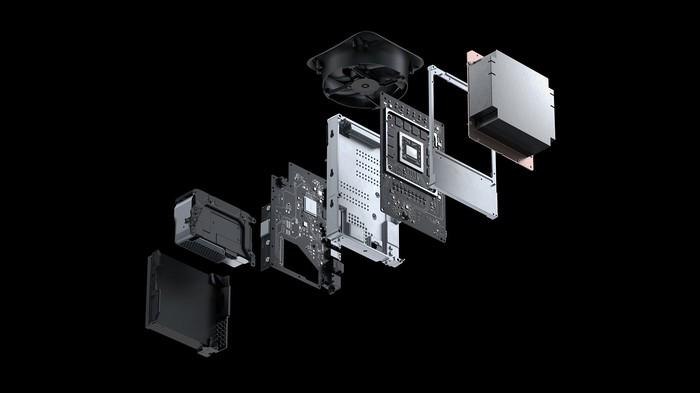 An image shows the components of the new Xbox.