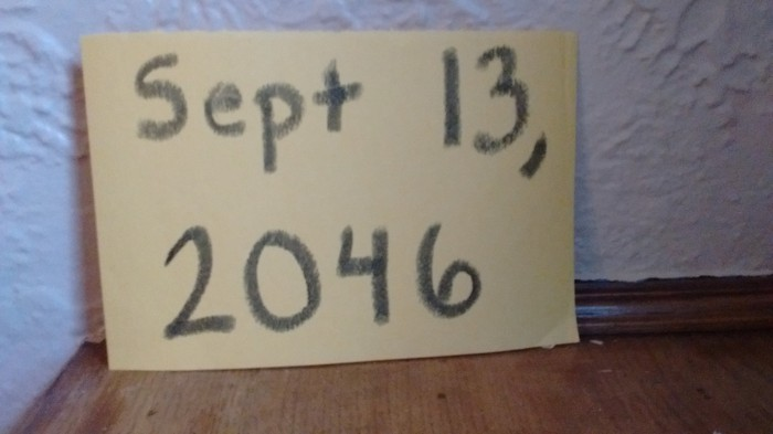 Note that says Sept. 13, 20146