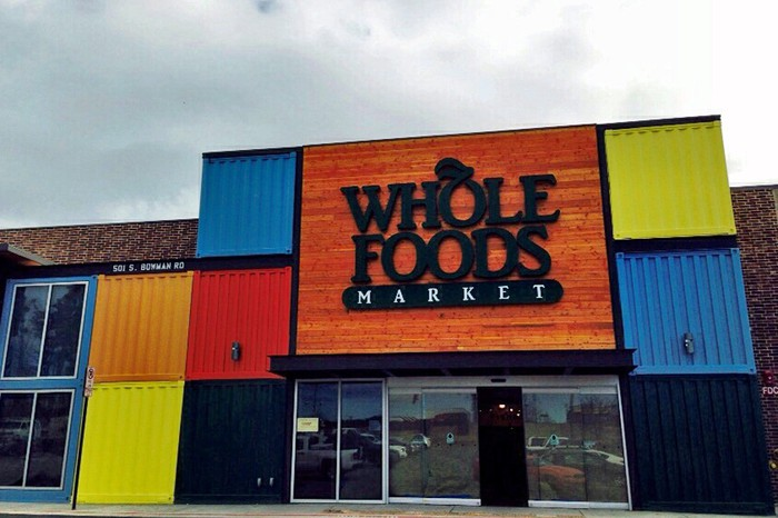 The exterior of a Whole Foods.
