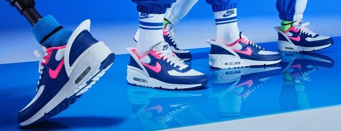 Nike shoes on feet