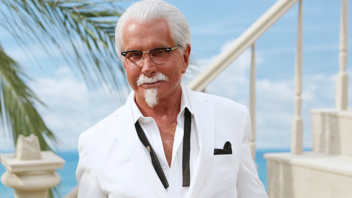 An actor portraying Col. Sanders.