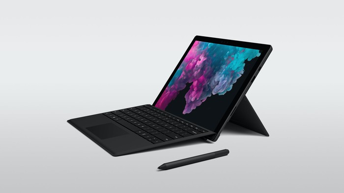 Surface Pro 6 with Surface Pen and keyboard cover