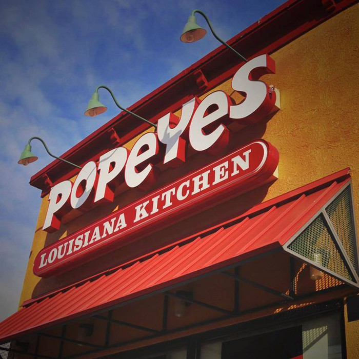 A Popeyes storefront.