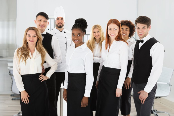A group of hospitality workers.