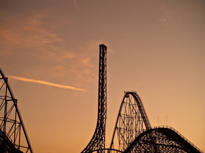 Six Flags at Sunset