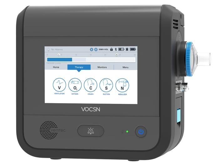 A Ventec VOCSN 360, a portable ventilator for hospitals.