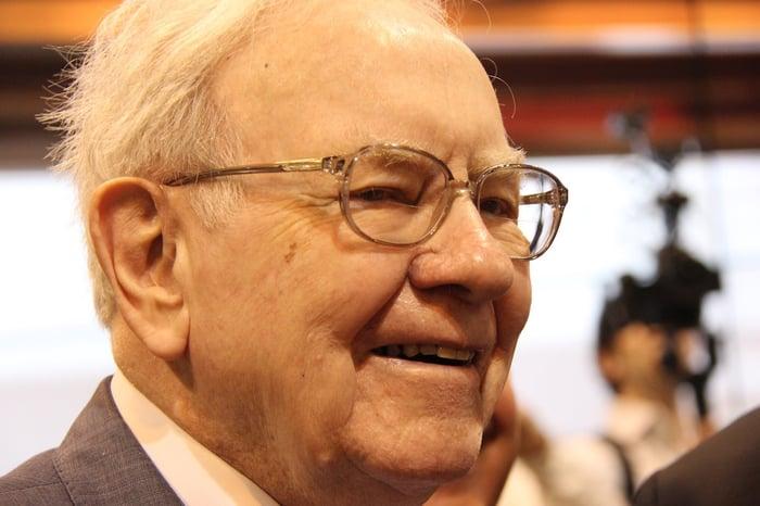 A close-up of Warren Buffett.