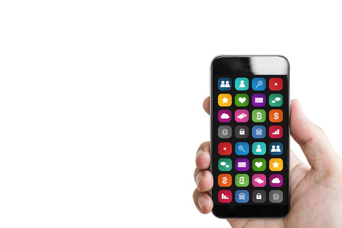 Mobile application on a smartphone