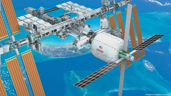 Artist's conception of B330 module attached to ISS