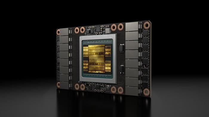 Tesla V100 Data Center GPU.