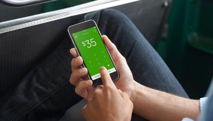 Person using Cash App