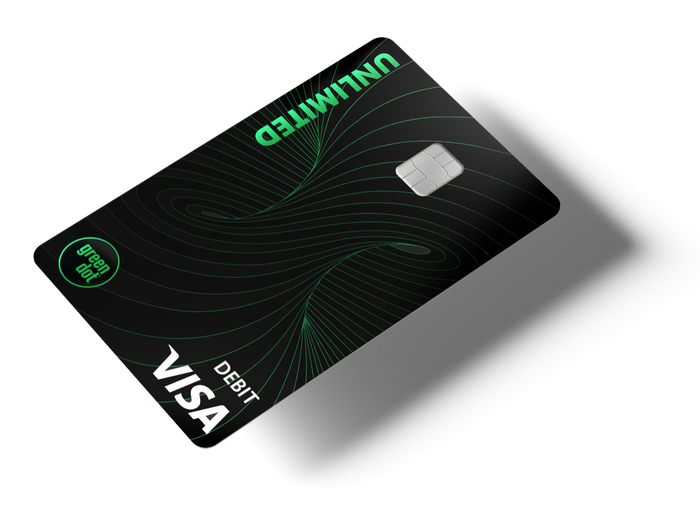A Green Dot Visa debit card.