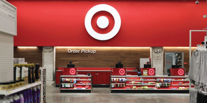 Interior of a Target store.