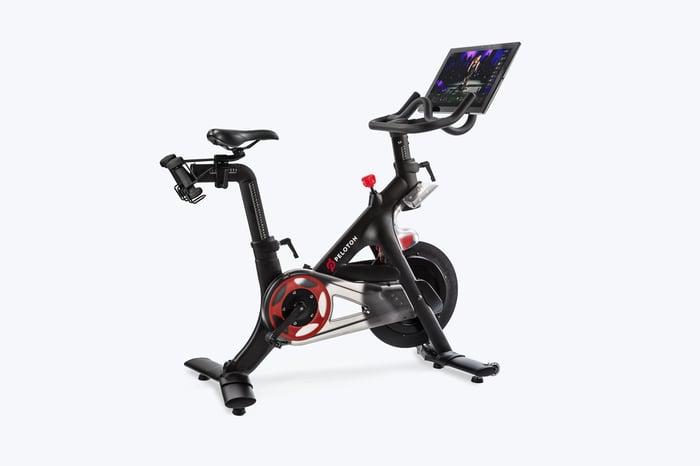 A Peloton bicycle