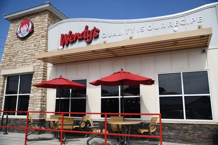 A Wendy's restaurant.