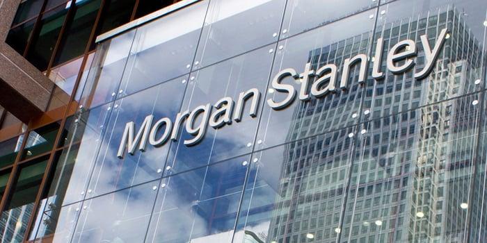 Facade of a Morgan Stanley office.