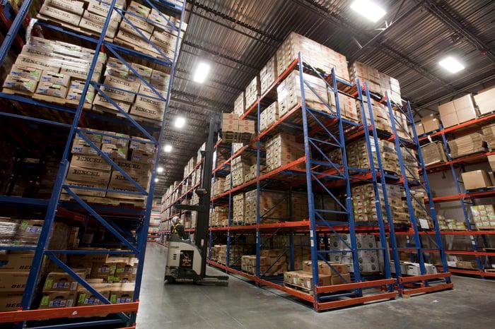 A Sysco warehouse.