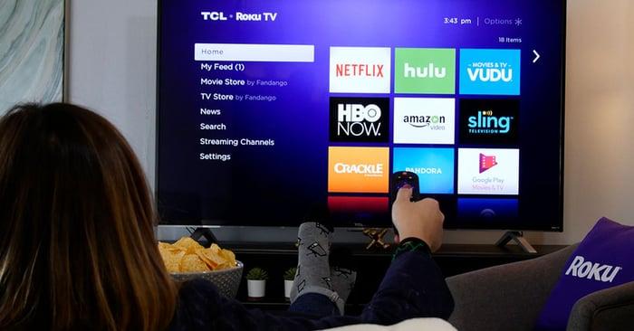 Roku Channel home screen on a Roku smart TV