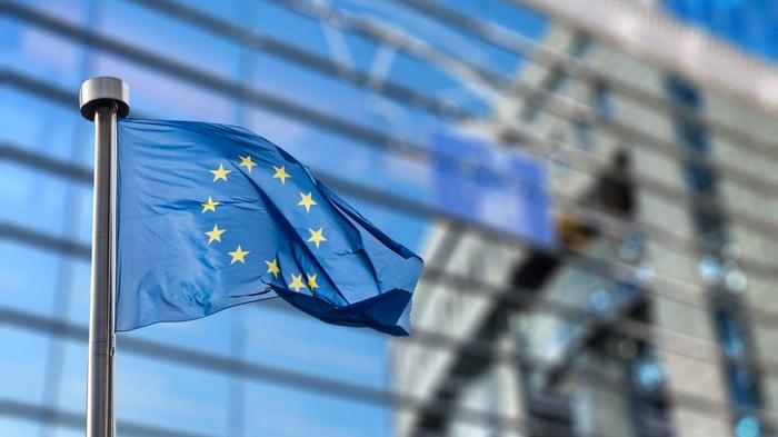 The EU flag.
