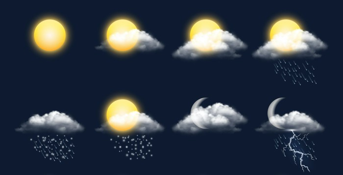 Various weather icons