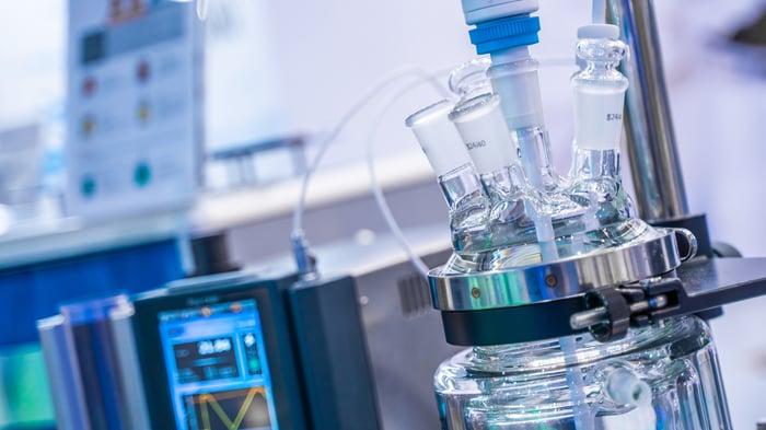 A closeup of medical laboratory equipment.