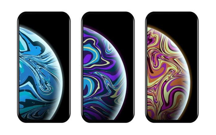 Image of 3 smartphones
