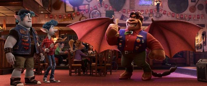 A still from Disney's recent film release, Onward.