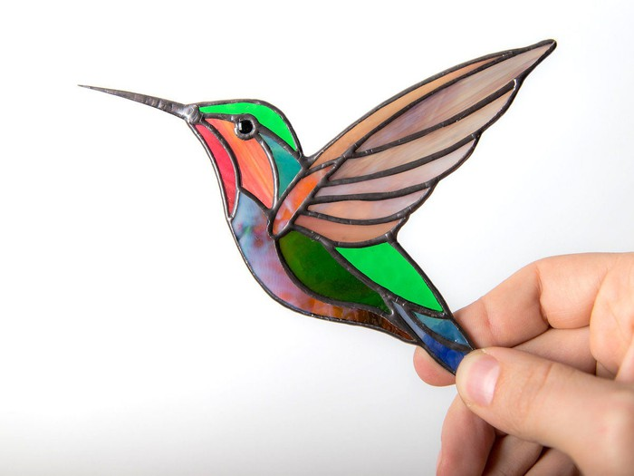 A handmade glass bird from Etsy