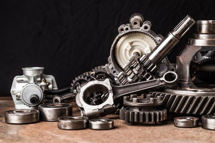 Assortment of car parts