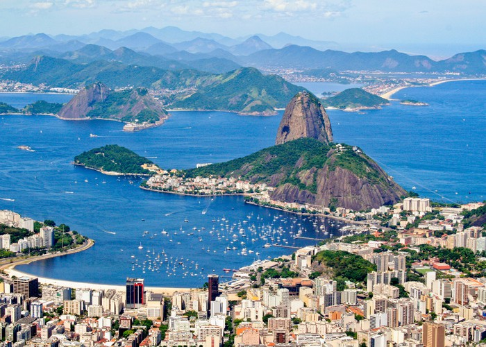 Aerial picture of Rio de Janiero.
