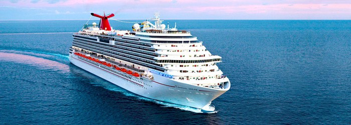 A Carnival Dream cruise ship on the water.