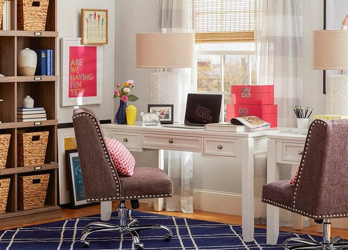 A home office setup demonstrated by Wayfair