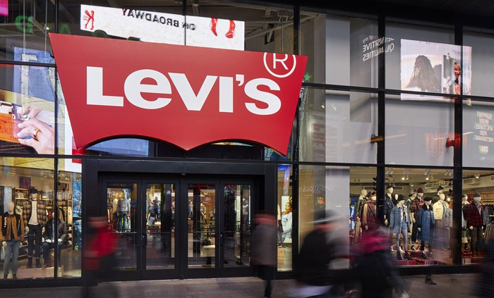 The exterior of a Levi's store in New York City