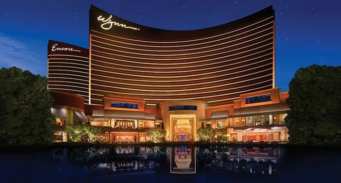 Wynn Hotel and Casino in back drop