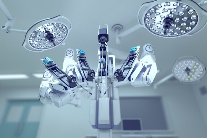 Robotic-assisted surgery device.