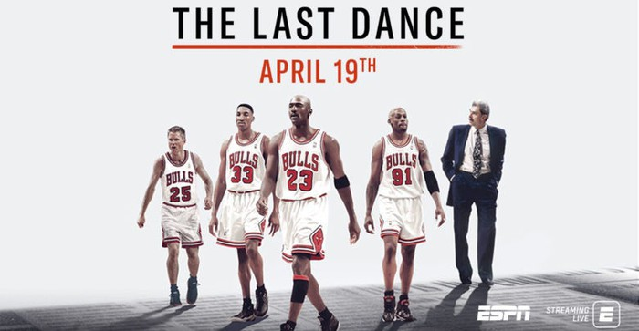 A promo image for ESPN's The Last Dance