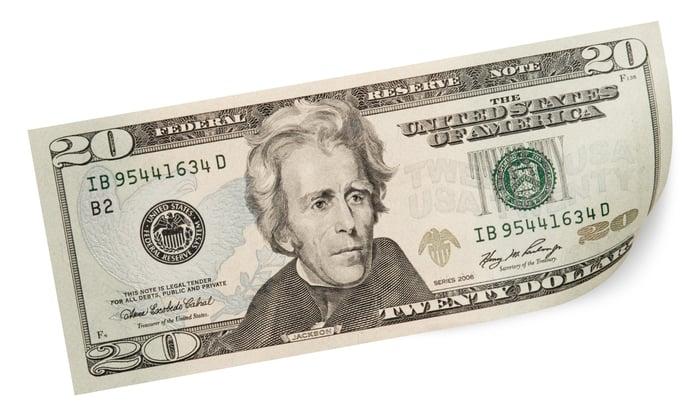 A $20 bill