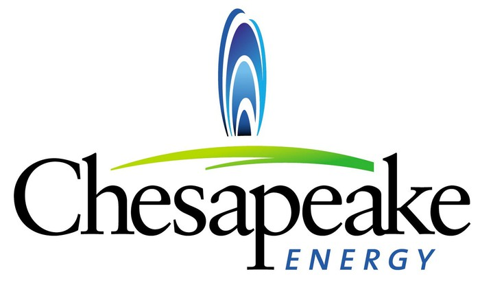 Chesapeake Energy logo with a blue stylized flame over a green arc.