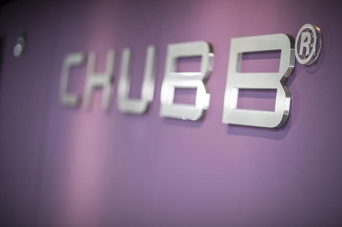 Chubb's logo on a wall