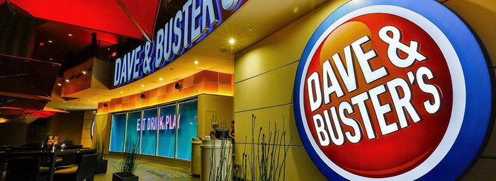 The entrance to a Dave & Buster's.