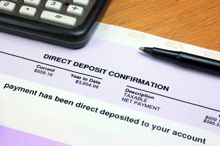 Direct deposit form.