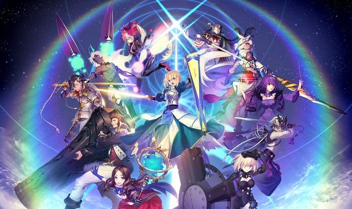 "Promo art for ""Fate/Grand Order."""