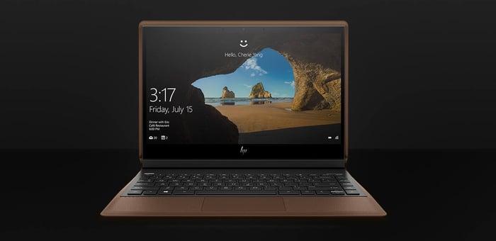 HP's Spectre Folio laptop.
