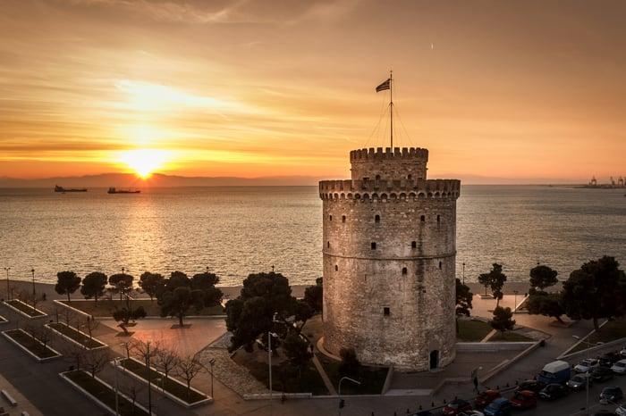 White tower in Thessaloniki.