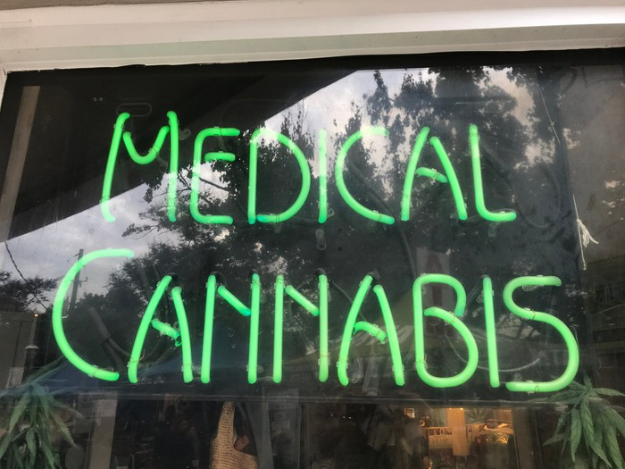 A sign advertising Medical Cannabis