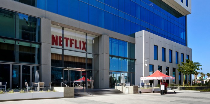 Exterior shot of Netflix office in Los Angeles