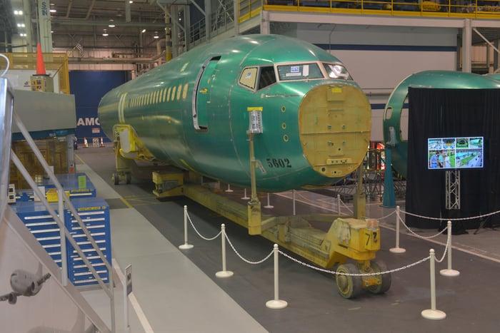 A Boeing 737 fuselage.