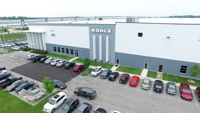The exterior of Kohl's ecommerce fulfillment center in Indiana.